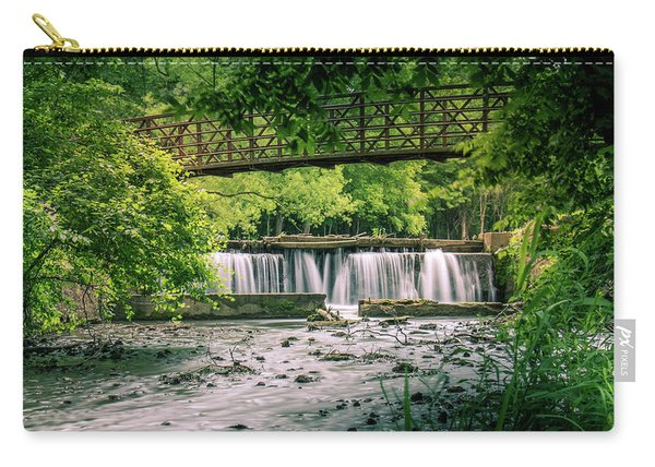 Carry-all Pouch featuring the photograph Falls At Ritter Springs by Allin Sorenson