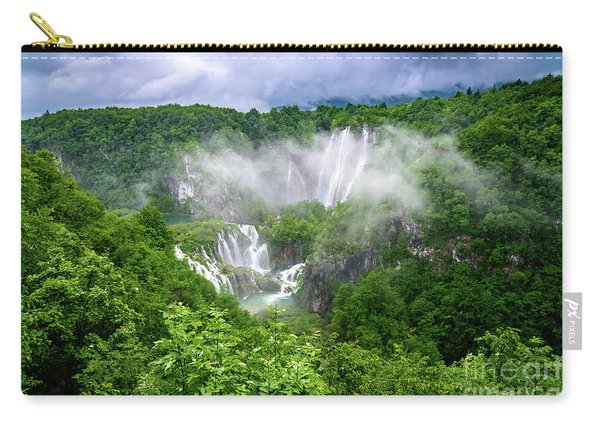 Falls Through The Fog - Plitvice Lakes National Park Croatia Carry-all Pouch