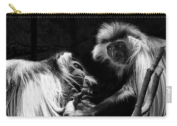 Family - Black And White Colobus Monkeys Carry-all Pouch