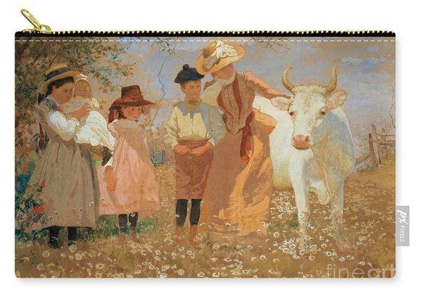 Family Group With Cow Carry-all Pouch