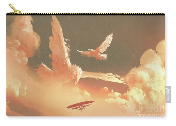 Carry-all Pouch featuring the painting Fantasy Sky by Tithi Luadthong