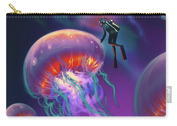 Carry-all Pouch featuring the painting Fantasy Underworld by Tithi Luadthong
