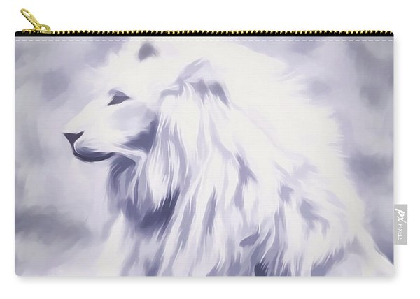 Fantasy White Lion Carry-all Pouch