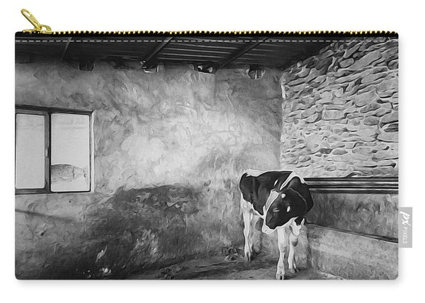 Farm Animal Cow In Barn Carry-all Pouch
