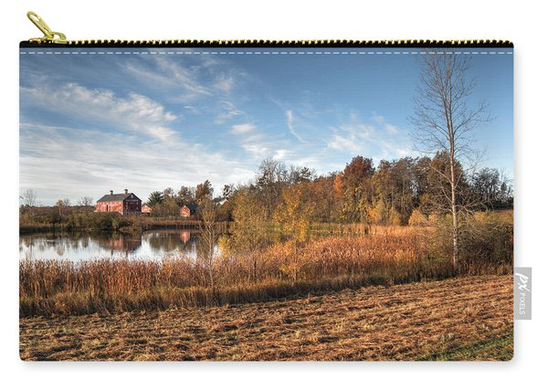 Carry-all Pouch featuring the photograph Farm Fall Colors by Michael Colgate
