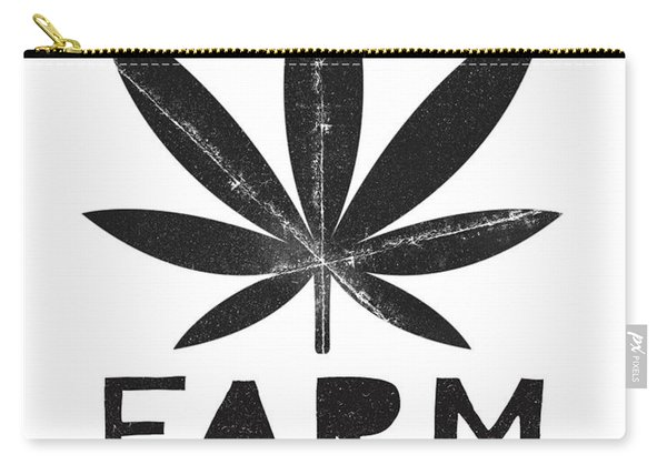 Farm To Couch Black And White- Cannabis Art By Linda Woods Carry-all Pouch