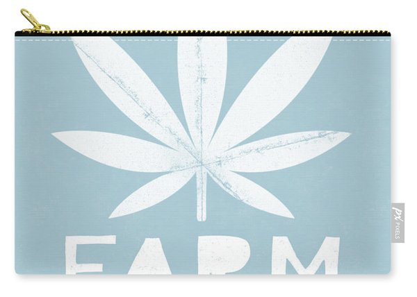 Farm To Couch Blue- Cannabis Art By Linda Woods Carry-all Pouch