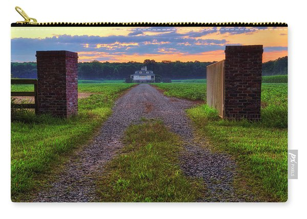 Farmhouse Sunrise - Arkansas - Landscape Carry-all Pouch