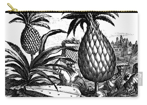 Farming Large Pineapples, Illustration From A Description Of Embassies To China, 1690  Carry-all Pouch