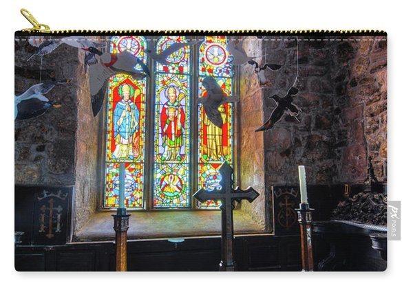 Carry-all Pouch featuring the photograph Farne Island Church by Dennis Dame