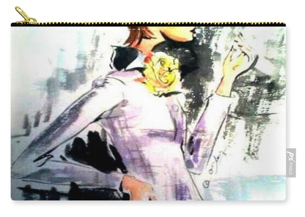 Fashion Woman In Purple Carry-all Pouch
