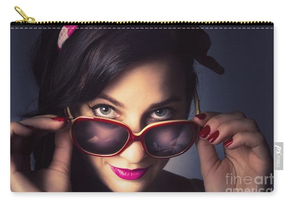 Fashionable Retro Pin-up Model Carry-all Pouch