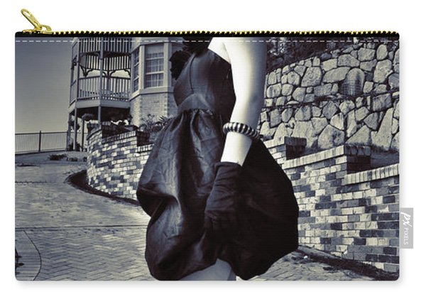 Fashionable Woman And Mansion Carry-all Pouch