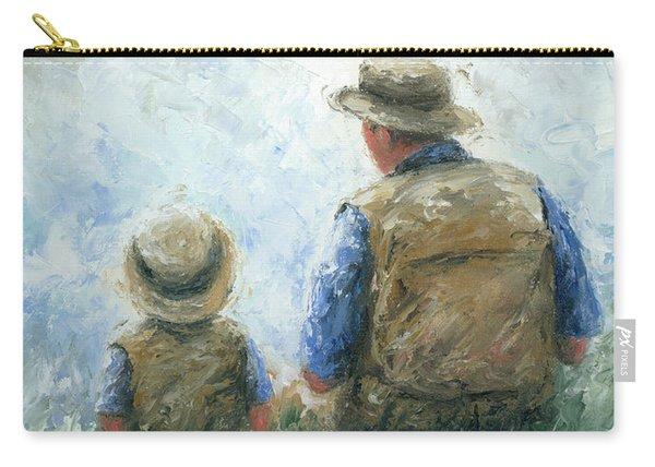 Father And Son Talk Carry-all Pouch