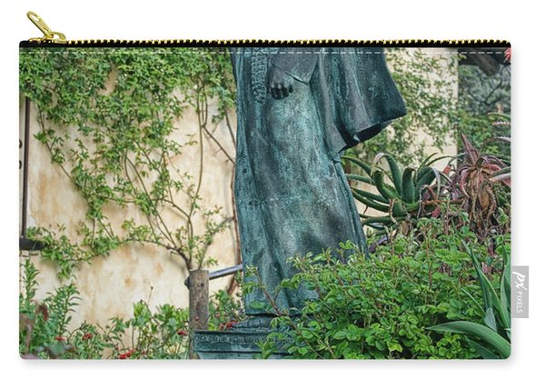 Father Junipero Serra Statue At Mission Carmel Carry-all Pouch