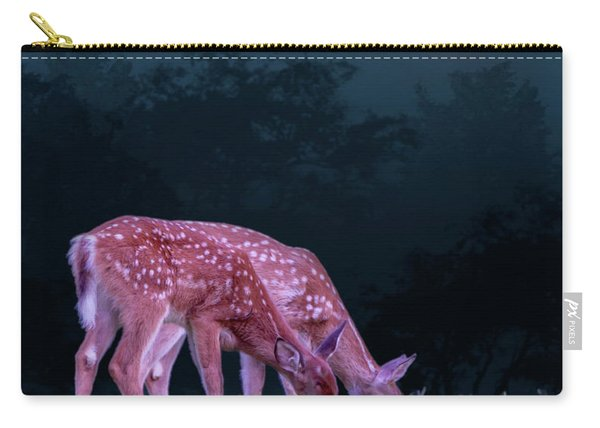 Fawns Under The Moon Carry-all Pouch