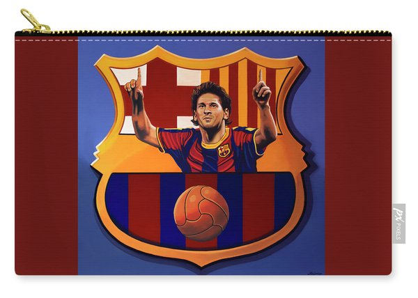 Fc Barcelona Painting Carry-all Pouch