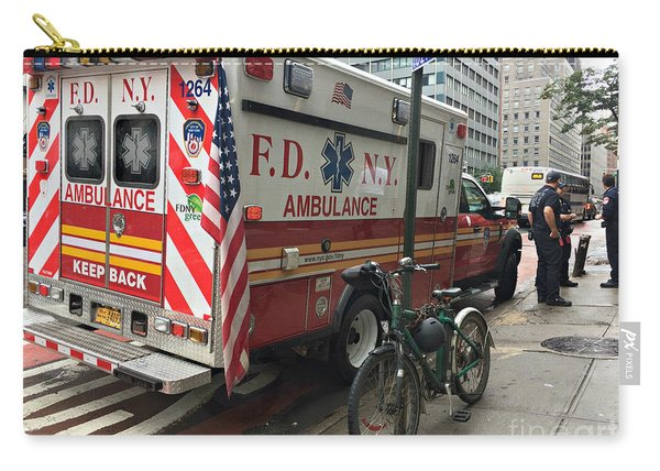 F D N Y Ambulance - New York Carry-all Pouch