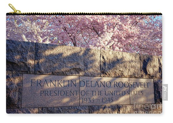 Fdr Memorial Marker In Washington D.c. Carry-all Pouch