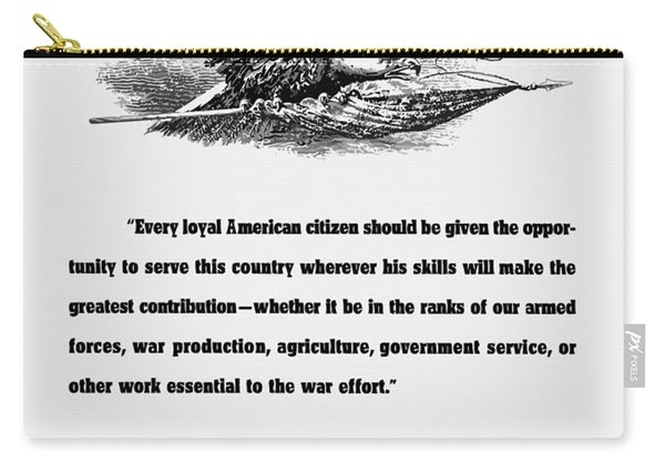 Fdr War Quote Carry-all Pouch