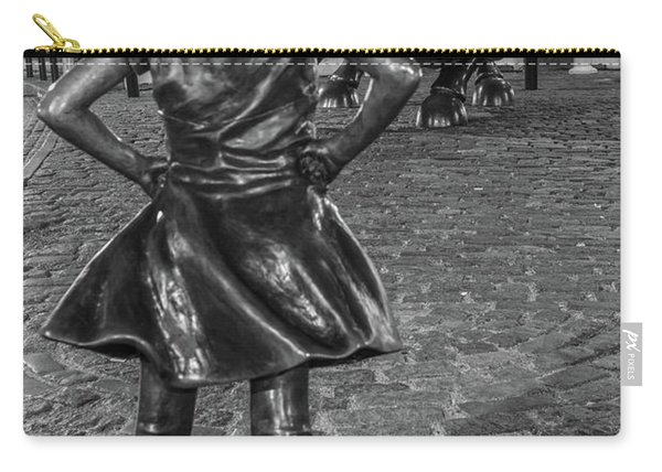 Fearless Girl And Charging Bull Nyc Carry-all Pouch