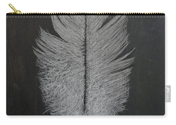 Carry-all Pouch featuring the pastel Feather 1 by Richard Le Page