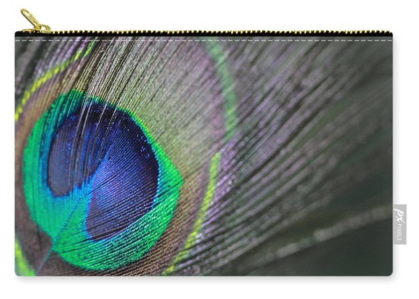 Feather In Green Carry-all Pouch