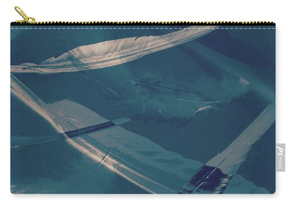 Feathers Floating In The Air Carry-all Pouch