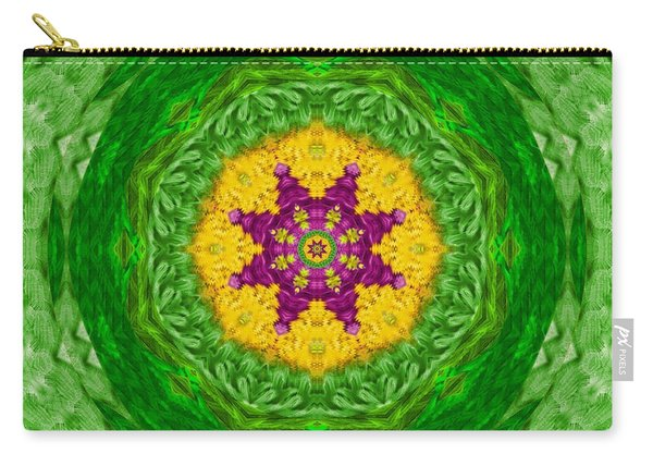 Feathers In The Sunshine Mandala Carry-all Pouch