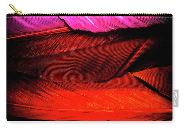 Feathers Of Rainbow Color Carry-all Pouch