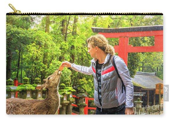 Feeding A Nara Deer Carry-all Pouch
