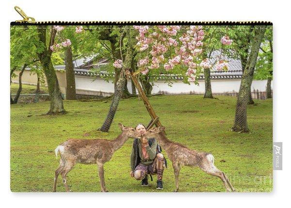 Feeding Nara Deer Hanami Carry-all Pouch