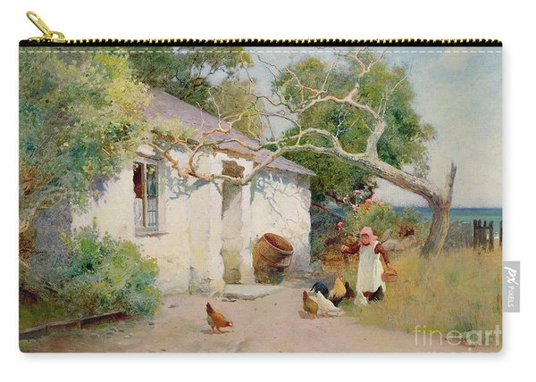 Feeding The Hens Carry-all Pouch