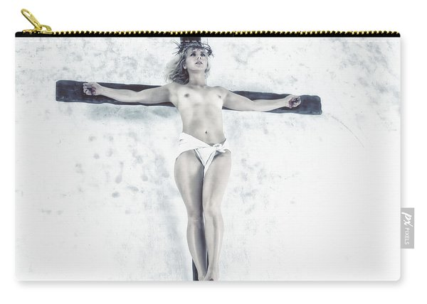 Female Jesus On Crucifix Carry-all Pouch