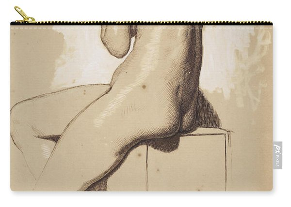 Female Nude - Study From Behind Carry-all Pouch