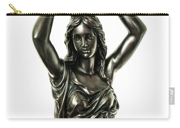 Female Water Goddess Bronze Statue 3288a Carry-all Pouch