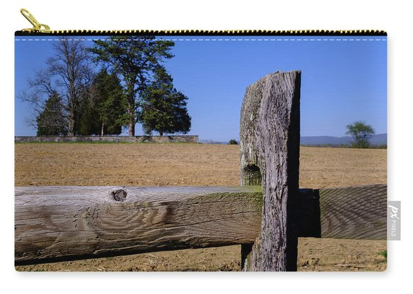 Fence And Farm On A Civil War Battlefield In Antietam Creek Mary Carry-all Pouch