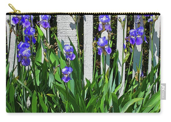 Fence In Purple Carry-all Pouch