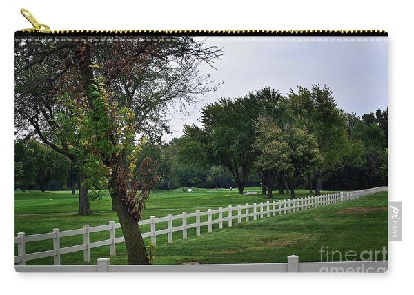 Fence On The Wooded Green Carry-all Pouch