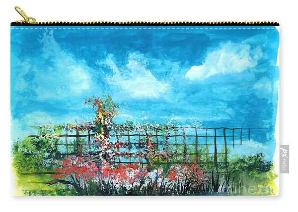 Fenceline Floral Carry-all Pouch