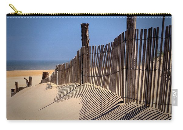Fenwick Dune Fence And Shadows Carry-all Pouch