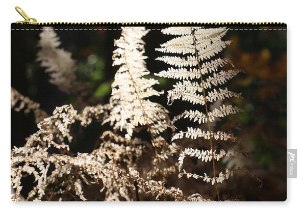 Carry-all Pouch featuring the photograph Fern Glow 2 by William Selander