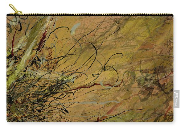 Fern Series Ping To Gray Tendril Detail Carry-all Pouch