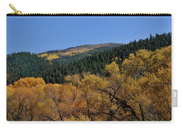 Carry-all Pouch featuring the photograph Fernando Peak by Ron Cline