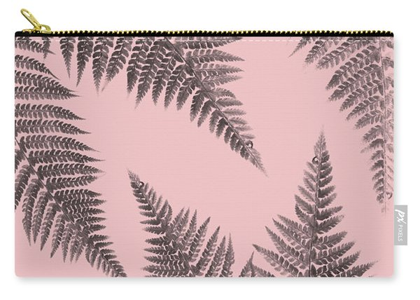 Ferns On Blush Carry-all Pouch