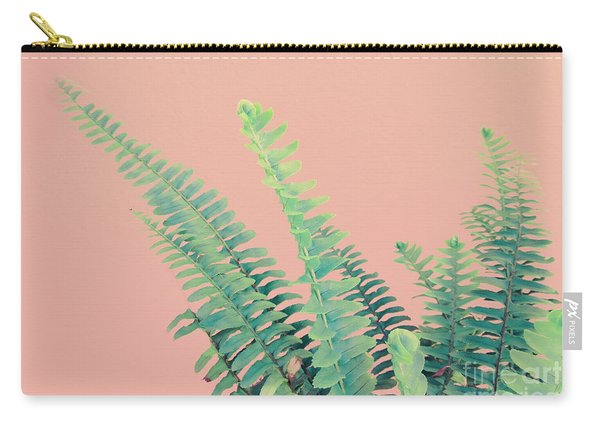 Ferns On Pink Carry-all Pouch