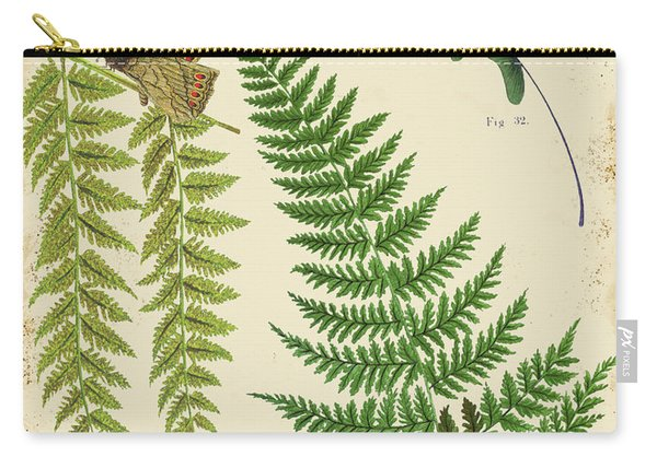 Ferns On Tin-a-jp2005 Carry-all Pouch