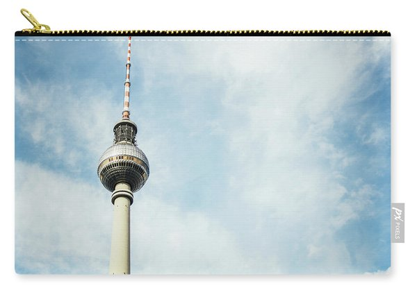 Fernsehturm Against Blue Sky Carry-all Pouch