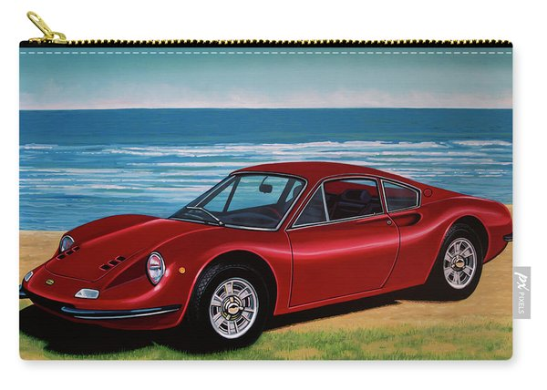 Ferrari Dino 246 Gt 1969 Painting Carry-all Pouch