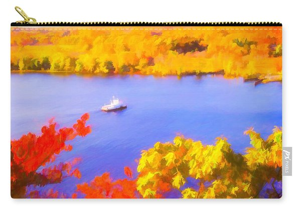 Ferry Crossing Connecticut River. Carry-all Pouch